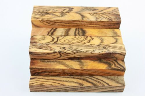 Exotic tiger stripe wood pen//small turning project blank 127mmx20mmx20mm
