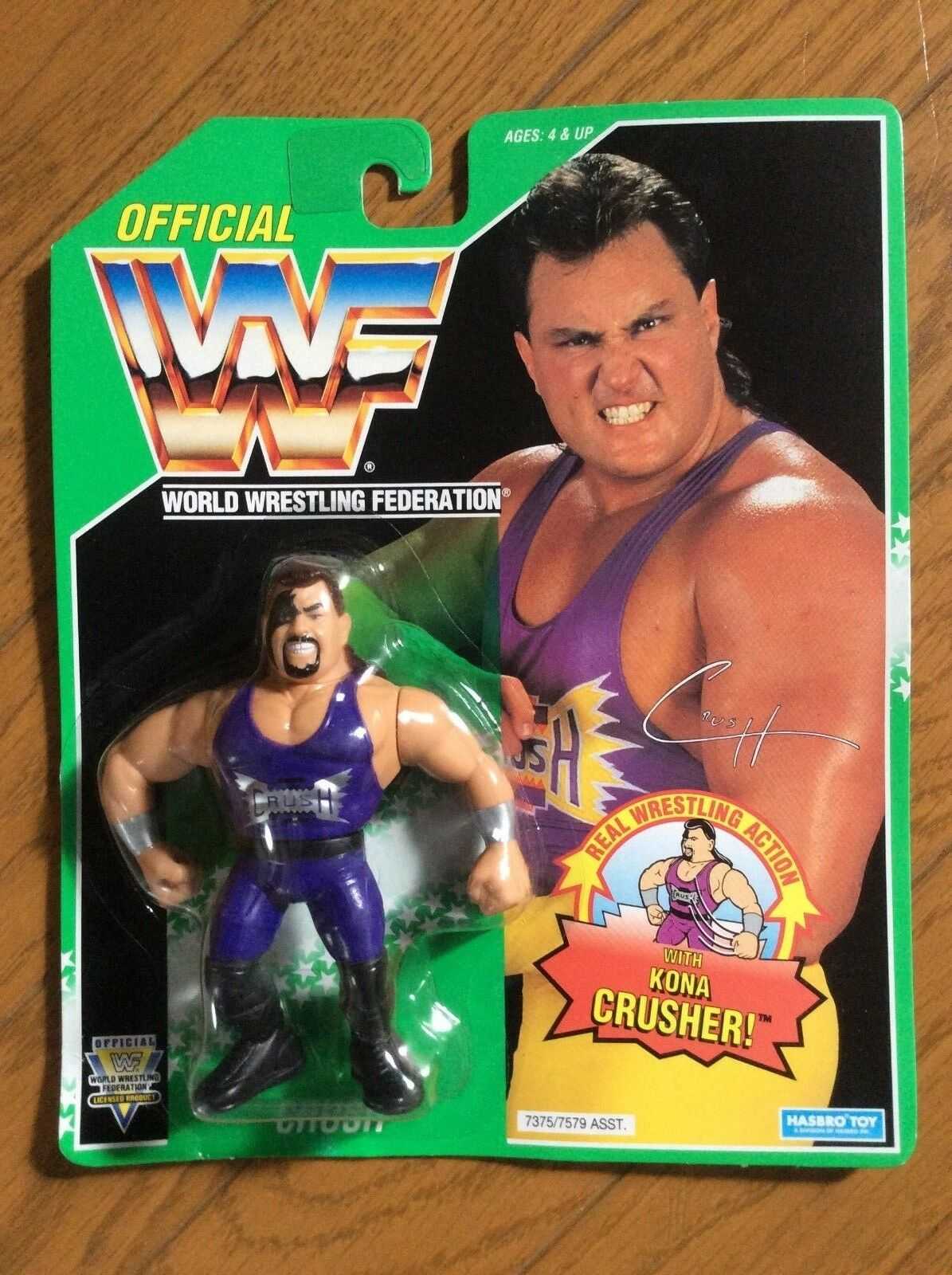 WWF Hasbro Crush Green Card  WWE