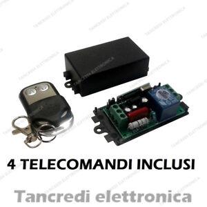 Scheda relè 220V 1 canale 4 telecomandi 433MHz controllo remoto relay ricevitore