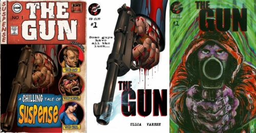 THE GUN 1 CREATURE ENTERTAINMENT RARE ALL 3 COVER SET A B C 1st VARIANT SOLD OUT