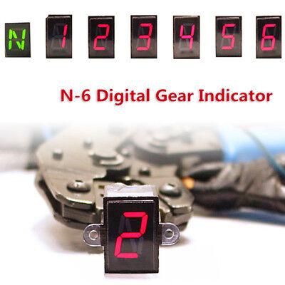 LED Motorcycle Gear Indicator Light N-6 Speed Shift Clutch Lever Gauge  Universal 6166310637108   eBay