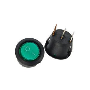10PCS Black Mini Round 3 Pin SPDT ON-OFF Rocker Switch Snap-in N4P3