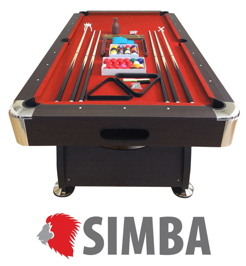BILLARD AMERICAIN NEUF Snooker table de poll biljart salon 8 ft ROUGE