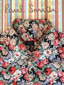 Paul Smith Hemd Gr. XXL-wunderschönes Blumendesign-SUPER-COOL & total klasse!