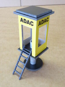 ADAC-Kontrollturm-in-1-32-Kunststoff-fuer-Carrera-SLOTCAR-DEKORATION-85556