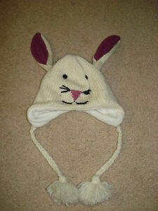 Vintage Nirvanna Designs Bunny Hat with Fleece Lining