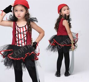 Hat Kids Age 3-10 Child DELUXE PRINCESS OF THE SEAS Pirate Girls Fancy Dress
