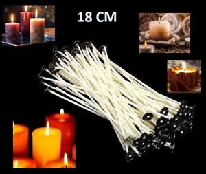Details about 18cm Quality Waxed Wicks For Candle Making With Sustainers  Art Studio Home