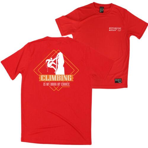 Dry Fit Performance T-Shirt Drug Of Choice Climbing FB Rock Climbing Tee
