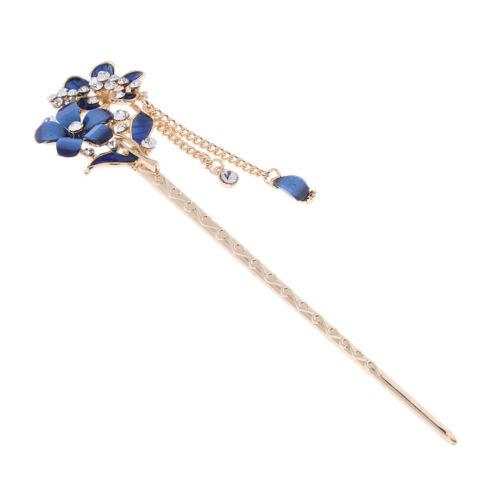 Chinesische Haar Essstäbchen Crystal Strass Flower Hair Stick Pins