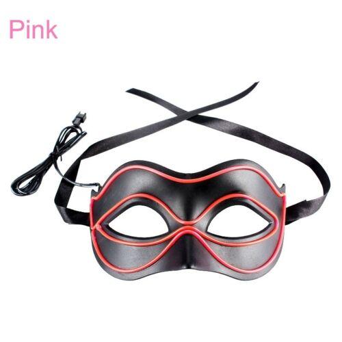 EL Wire LED Light Up Glow Eyewear Mask Princess Halloween Costume Party #ur