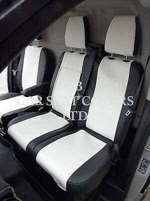 TO FIT A RENAULT TRAFIC VAN 2012 SEAT COVERS EBONY BLACK SINGLE /& DOUBLE