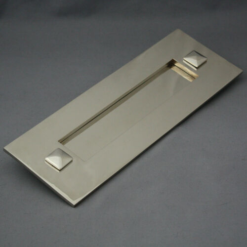 Traditional Nickel Letterbox /& Tidy
