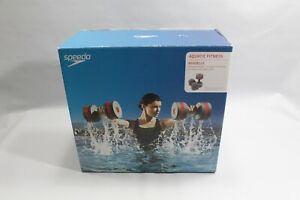 Speedo Aquatic Fitness Haltères Anthracite Rouge Poids Aquagym-afficher Le Titre D'origine