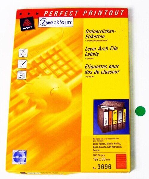 Avery Zweckform 3696 Ordnerrücken-Etiketten Rot für Leitz,Falken,Mehle Drucker