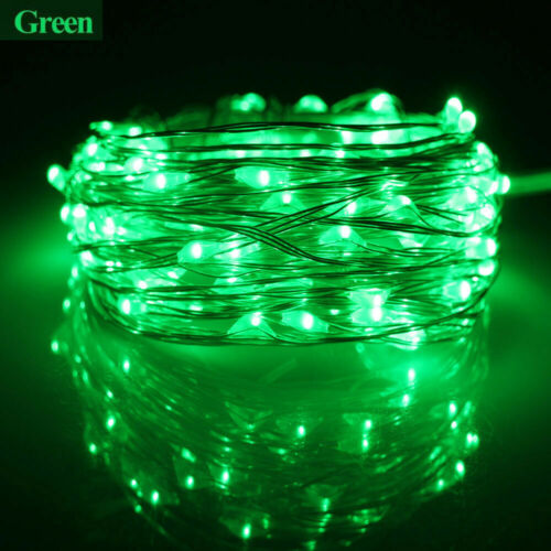 2M 3M 5M 10M LED String Lights Fairy Copper Wire Battery USB 12V Wedding Party M