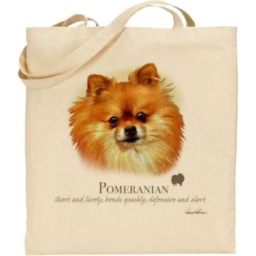 Pomeranian Dog Breed Howard Robinson reusable cotton shopping shoulder tote bag