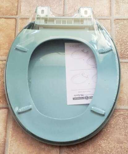 Peerless REGENCY BLUE C1606S45 Slow Close Quicklean Plastic Round Toilet Seat