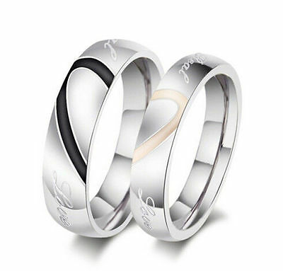 2016 TIU A Fashion Fortunate Heart Shape Promise Wedding Matching Rings