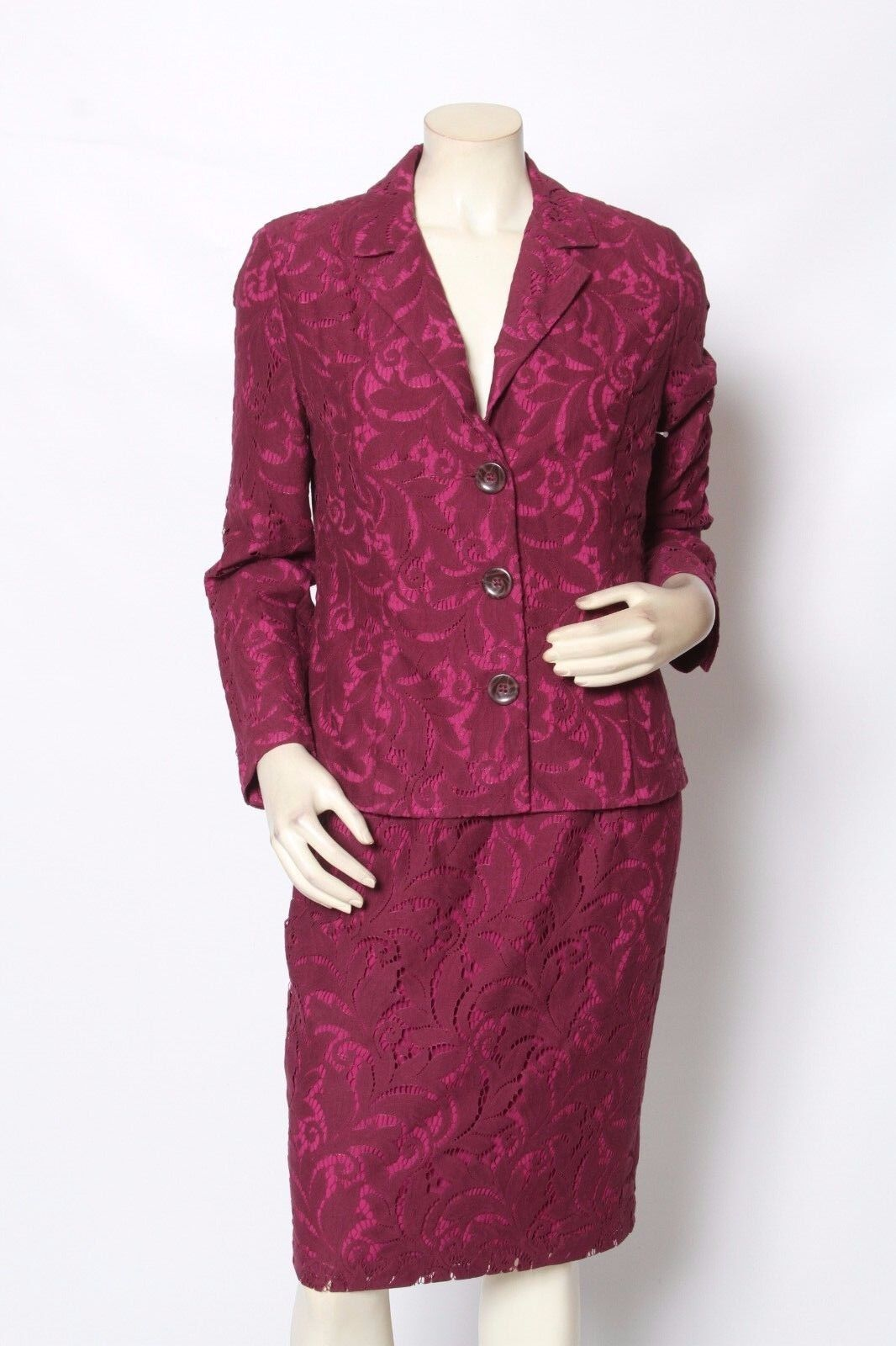 CAbi by Carol Anderson Fall FROLIC Plumberry Lace 2 pc Suit sz 6 NWT