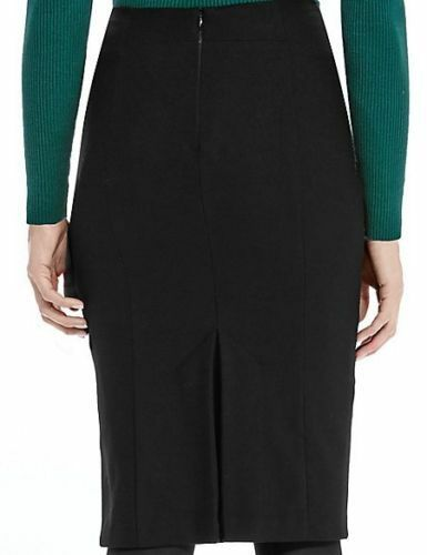 MARKS AND SPENCER LUXURY WOOL /& CASHMERE BLEND LINED PENCIL SKIRT SIZE 12 LONG