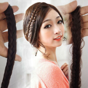 PW-FT-Chunky-Clipped-Braid-Hairband-Hairpiece-Braided-Wear-Hoop-Stranded-Hai