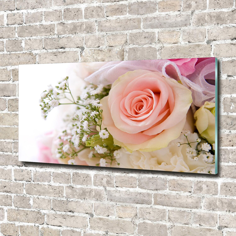 Glas-Bild Wandbilder Druck auf Glas 140x70 Deko Blaumen & Pflanzen Blaumenstrauß