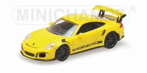 1//87 Minichamps PORSCHE 911 GT3 RS 2013 YELLOW W// STRIPES 870063225