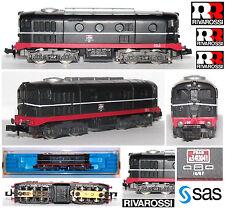RIVAROSSI 9166 RARO LOCOMOTORE D341-1041 Ex FS Ferrovie Toscane FSAS BOX SCALA-N