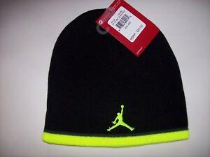 Nike Air Jordan Jumpman Beanie BLACK VOLT Hat ONE SIZE FM 8-20 OSFM ... ef61d1ac19e