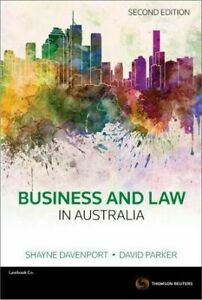 Business-and-Law-in-Australia-2nd-Edition-Excellent-Condition-Free-POST