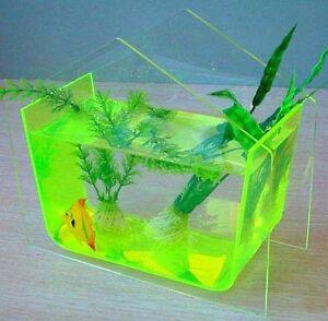 Table top home betta fish bubble aquarium bowl tank ebay for Bubbles in betta fish tank