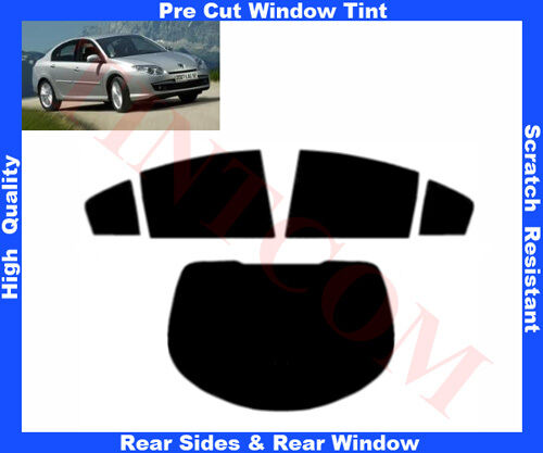 Pre Cut Window Tint Renault Laguna 5D 07-10 Rear Window /& Rear Sides Any Shade