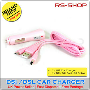USB-Car-Adapter-Charger-Nintendo-DSi-or-DSL-Cable
