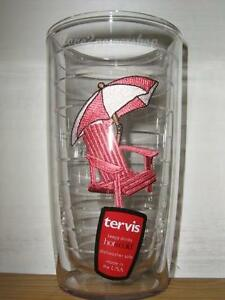 11e8de34142 16 oz Pink Adirondack Chair Tervis Tumbler New paradise vacation ...