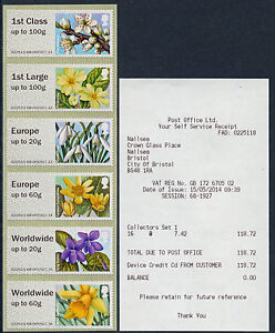 NCR-TYPE-IIA-SPRING-FLOWERS-BLOOMS-1st-ISSUE-w-EUROPE-to-20g-COLL-SET-POST-GO