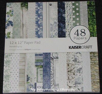 """Kaisercraft Wandering Ivy' 12x12"""" Paper Pad 48 Sheets (24 Designs X2) Kaiser"""