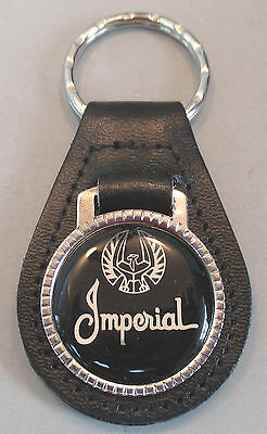 Chrysler Silver Script 1945 Leather Black 1942 1944 Keyring IMPERIAL 1943 1941 ag5pAx
