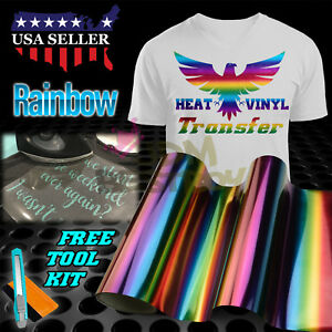 Rainbow Pattern Heat Transfer Vinyl Htv T Shirt 20 Quot Wide