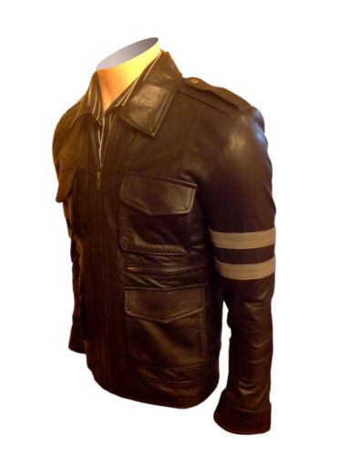 Halloween pelle Giacca Biker di Resident Evil di Classic Black Costumi Yz6HRUW