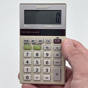 Sharp Elsi Mate EL-244T 8 Digit Dual Power Calculator
