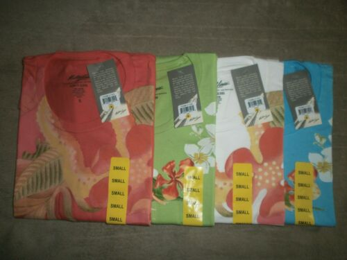 4 MATSON LINES LADIES FLORAL PRINT 100% SOFT COTTON TSHIRTS YOU GET ALL 4 SZ S