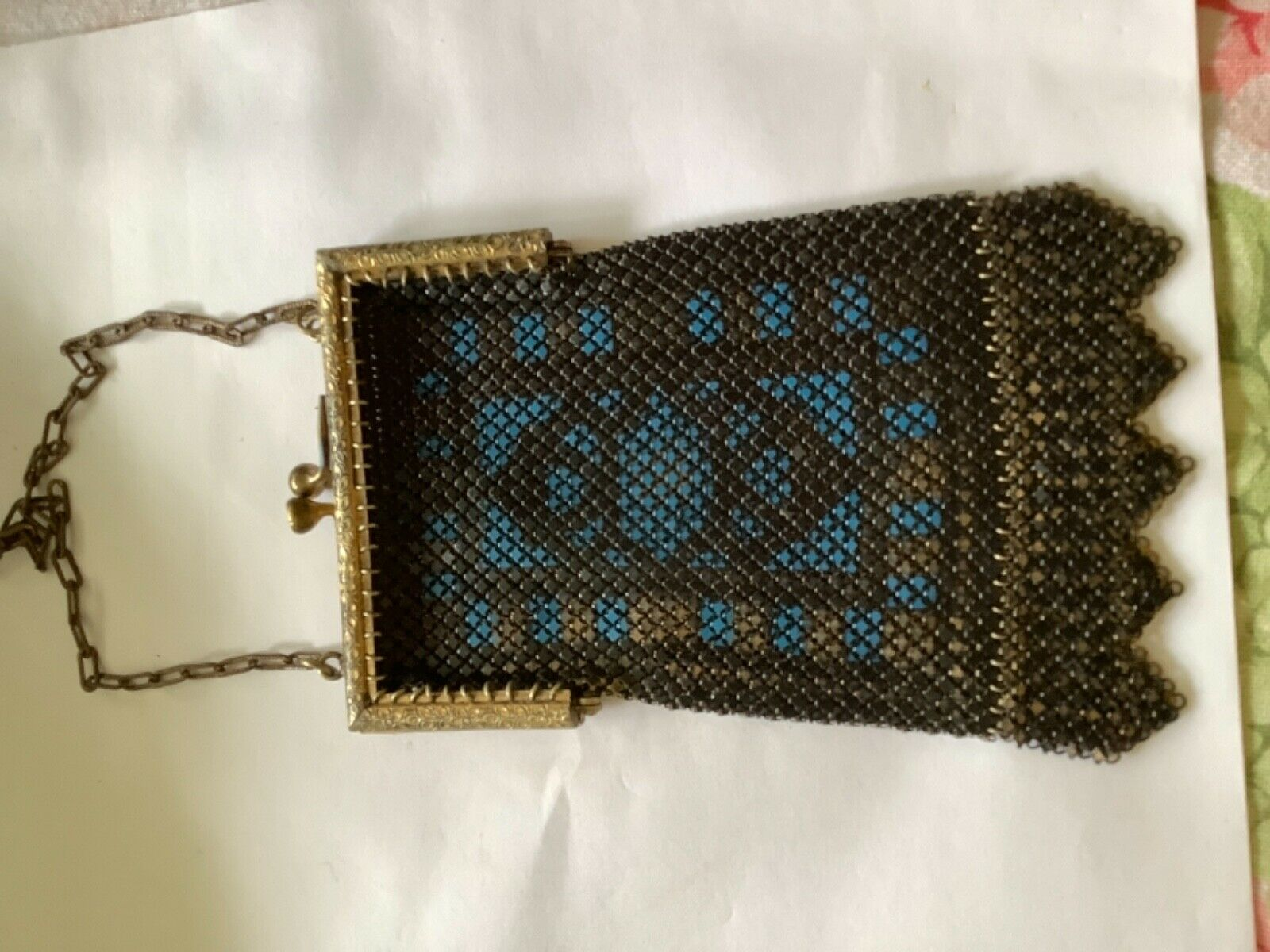 Mandalian Co. Enameled Mesh Art Deco Handbag - image 1