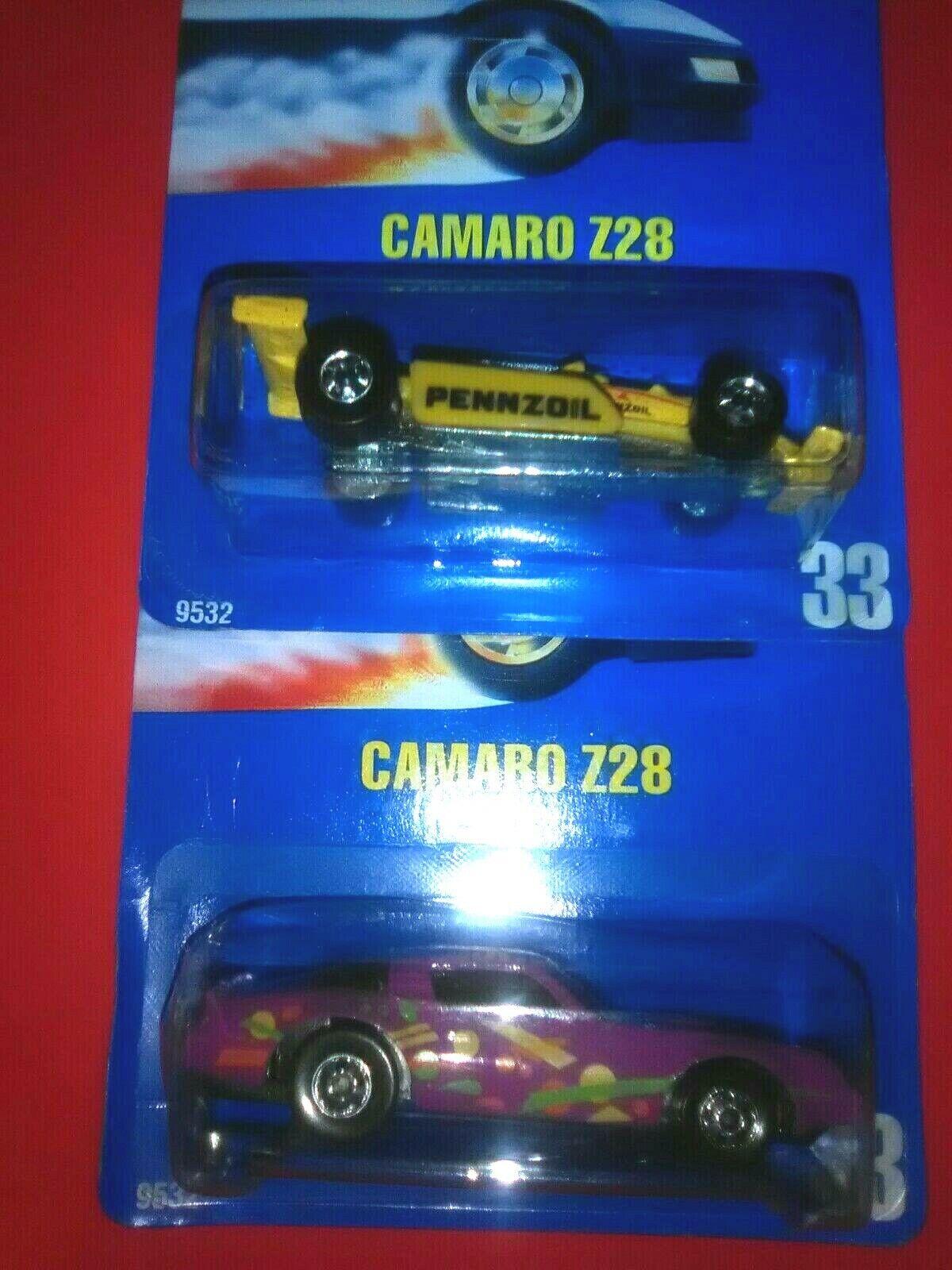 ERROR RARE HTF blå bilD MOC pkonsti, heta hjul 33 Camaro Z28 korrigerad, också look