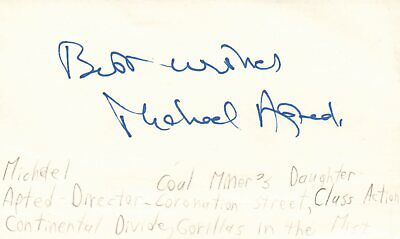 And Great Variety Of Designs And Colors Well-Educated Michael Apted Actor Coal Miner's Daughter Movie Autographed Signed Index Card Famous For High Quality Raw Materials Full Range Of Specifications And Sizes