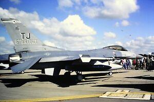 2-60-2-General-Dynamics-F-16-United-States-Air-Force-TJ-16th-AF-Kodachrome-SLIDE