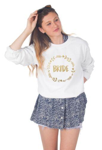 Bride/'s Entourage Sweater Top Jumper Sweatshirt Wedding Bride Hen Do Party Set