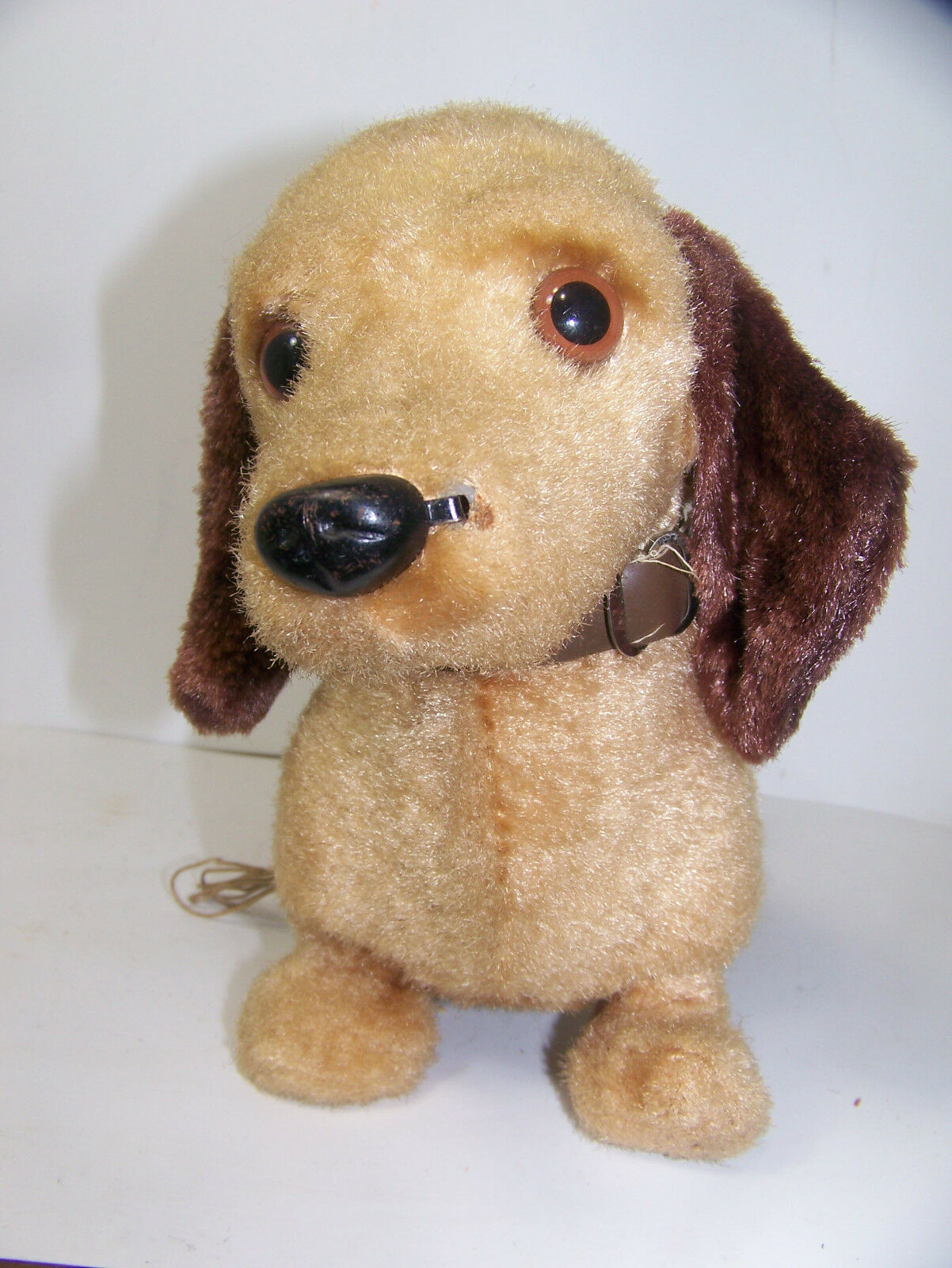 VINTAGE OLD JAPAN IWAYA RVT TOY DOG DACHSHUND Battery Operated Works Perfect