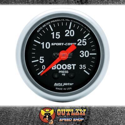"""Auto Meter Sport-Comp 2-1//16/"""" Boost Gauge AU3304 0-35PSI"""