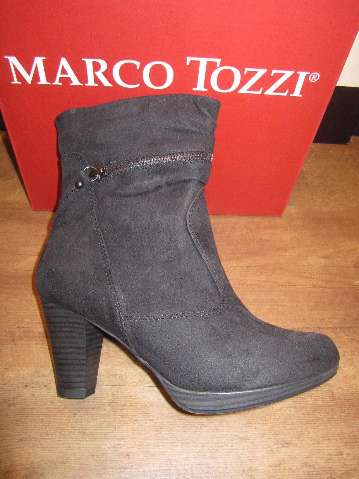 Marco Tozzi bottes, noir, Léger Gefüttert. Rv Neuf